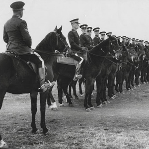 Photograph of RCMP Depot equitation class (Source of photo - Joe Collinson's Photo Collection).