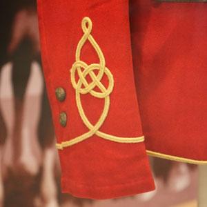 Photograph of NWMP tunic sleeve (Source of photo - Sheldon Boles).