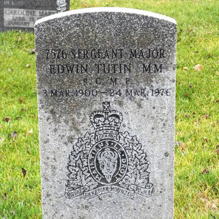 Photograph of the RCMP Gravemaker for Sergeant Major (Source of photo - Sheldon Boles)