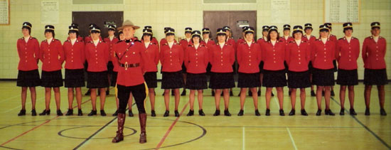 Photograph of Troop #17 with their Drill Instructor - SergeantJohn Hart (Source of photo - Ric Hall's Photo Collection).