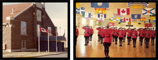 "1974/75 - Photograph of RCMP ""Depot"" Division Drill Hall (Source of photo - Ric Hall's Photo Collection)."