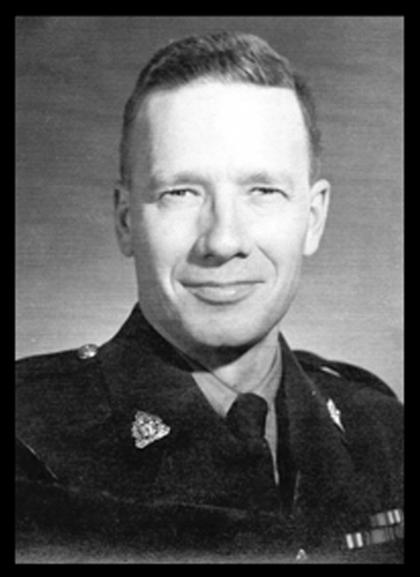 "Photograph of RCMP S/Sgt. Bernard ""Bernie"" Ormond Barker - Reg.#13963 (Source of photo - Ric Hall's Photo Collection)."