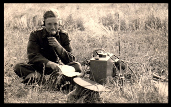 Photograph of Bernie Barker - Radio Operator No.1 Provost Corps (RCMP) - World War II (Source of photo - Ric Hall's Photo Collection).