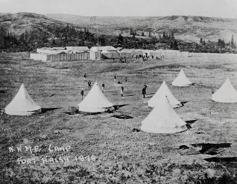 "Photograph of the NWMP Fort Walsh (Source of the photo - RCMP Historical Collections Unit - ""Depot"" Division)."