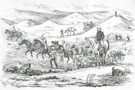 Illustration of the NWMP March West in 1874,