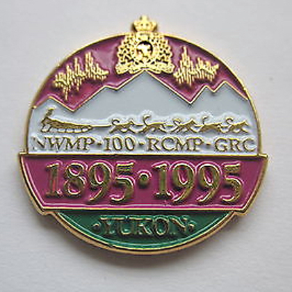 Photograph of the Yukon RCMP Cennetial crest.