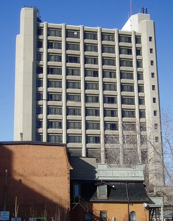 "Photograph of the old RCMP ""O"" Division headquarters building at 225 Jarvis Street in Toronto."