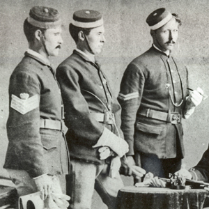 Photograph of three original NWMP members