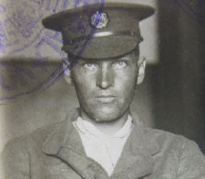 Photograph of Cpl. Philip Bossard (Force Reg.#7398).