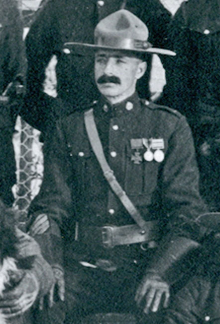 "Photograph of RNWMP Sergeant Arthur Richardson taken at Fort Battleford Saskatchewan. Arthur was the first member of the Force to win the Victoria Cross. (Source of photo - RCMP Historical Collections Unit - ""Depot"" Division)."