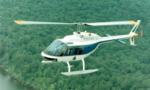 Photograph of a RCMP Helicopter (Source of photo - Veteran Bill Sedler).