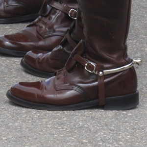 RCMP spurs and high brown boots (Source of photo - Sheldon Boles).