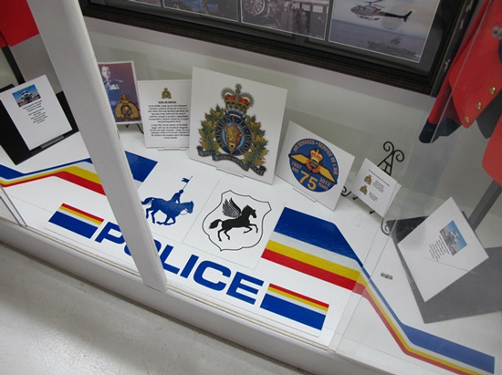 Photograph of the RCMP Air Services at the Canadian Museum Of Flight (Source of photo - Dennis Ratcliffe).