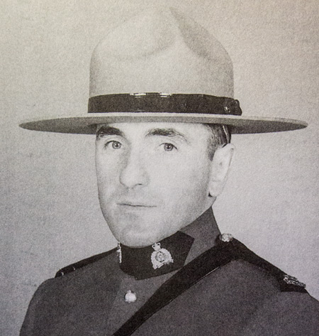 Photograph of Constable Joseph Ernest Andre Claude Gagne (Reg.#44134) (Source of photo - 1996 edition of the RCMP Quarterly magazine).