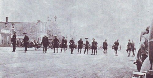 Photograph of the RCMP members assigned to assist with the Estevan Riot.