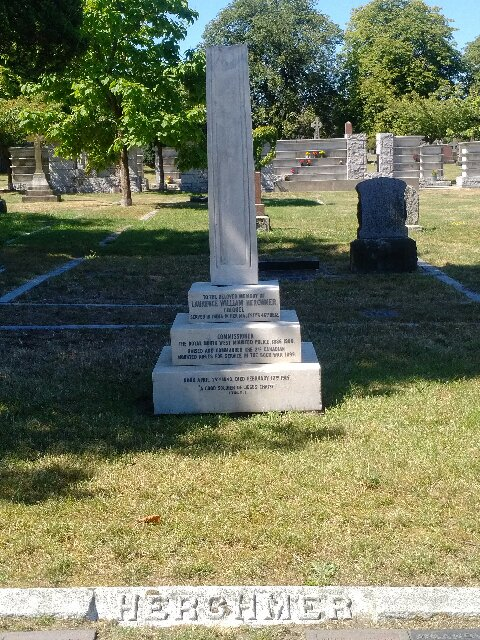 Photograph of the updated grave marker for Commissioner