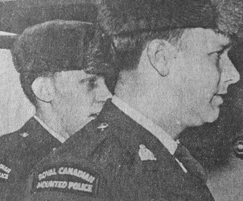 Photograph of RCMP Constables (left to right):