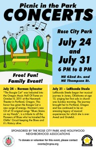 Concerts in the Park 2021 Poster