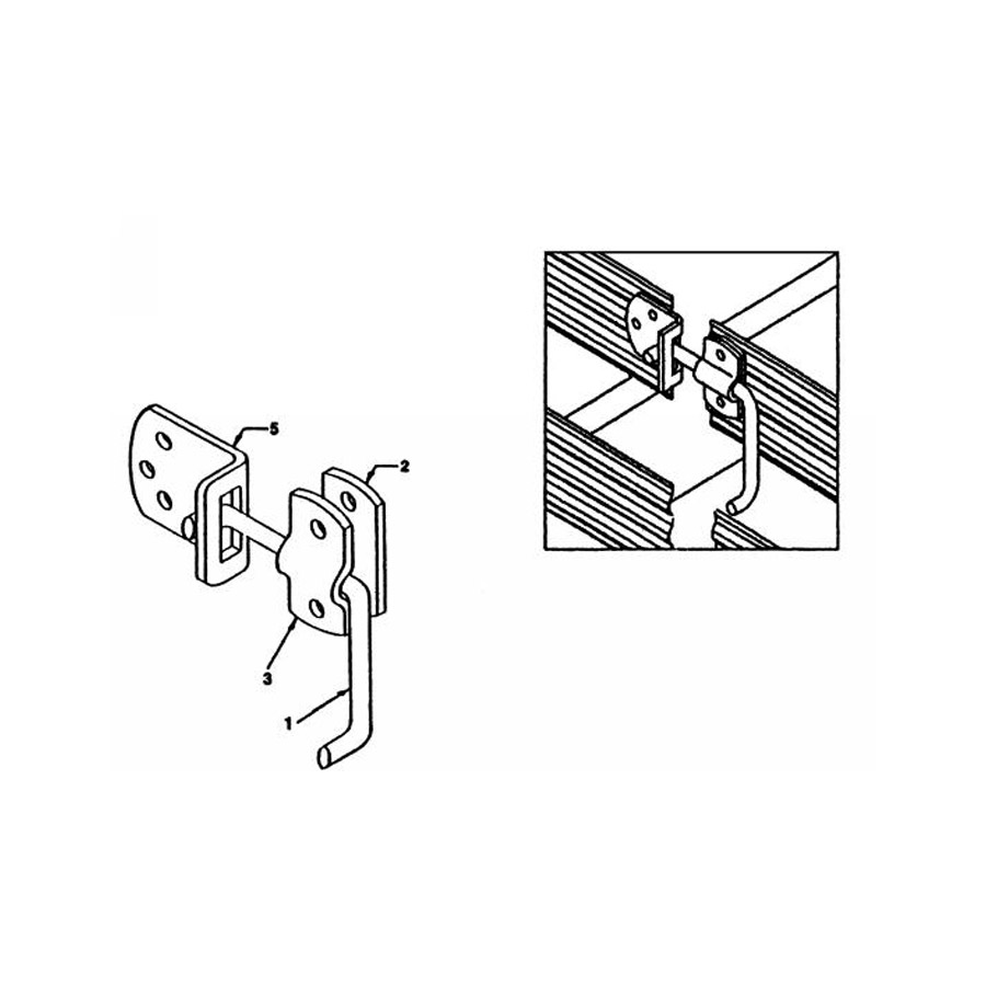 Buyers B2588B Plain Straight Side Security Latch Set ($6.38)