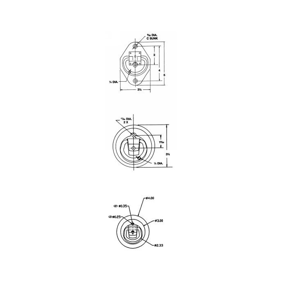 Buyers B601 Zinc Plated Recessed Rope Ring ($2.86)