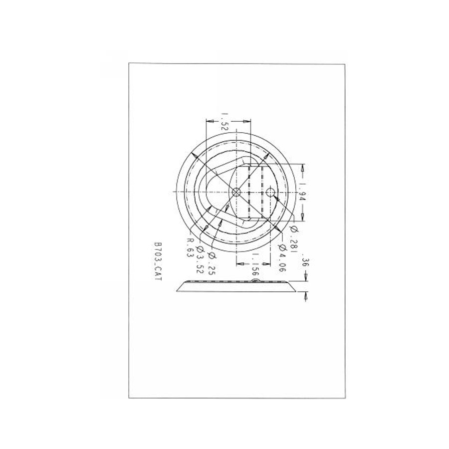 Buyers B703 Zinc Plated Recessed Rope Ring with Plastic