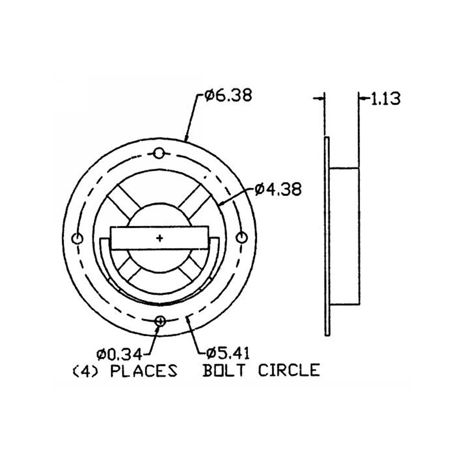 Buyers B901 Heavy Duty Recessed Rotating Rope Ring ($15.93)