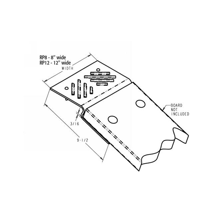 Buyers RP8 Ramp Plate Kit for 2