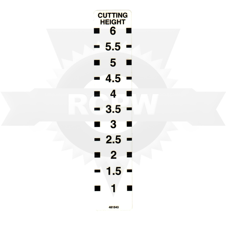 Scag 481543 DECAL, CUTTING HEIGHT ($3.43)