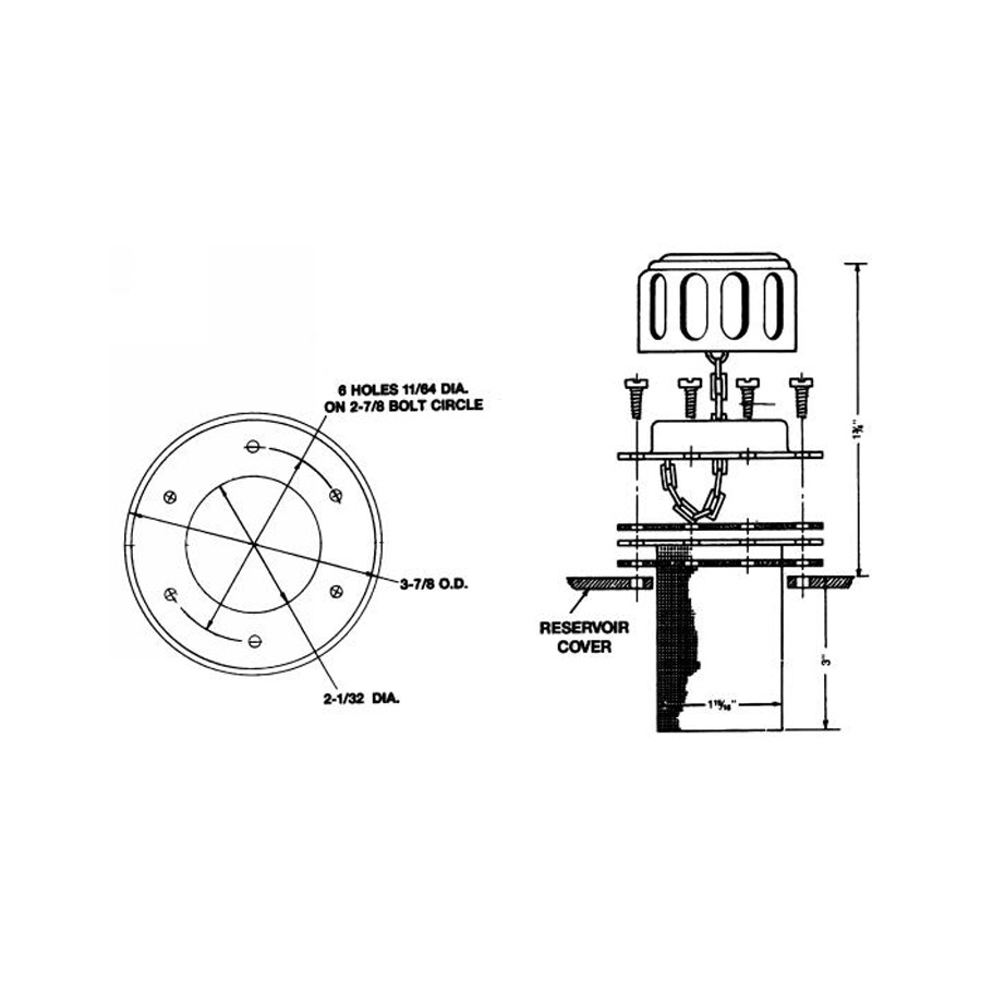 Buyers TFA005715 Filler-Strainer Breather Unit Assembly