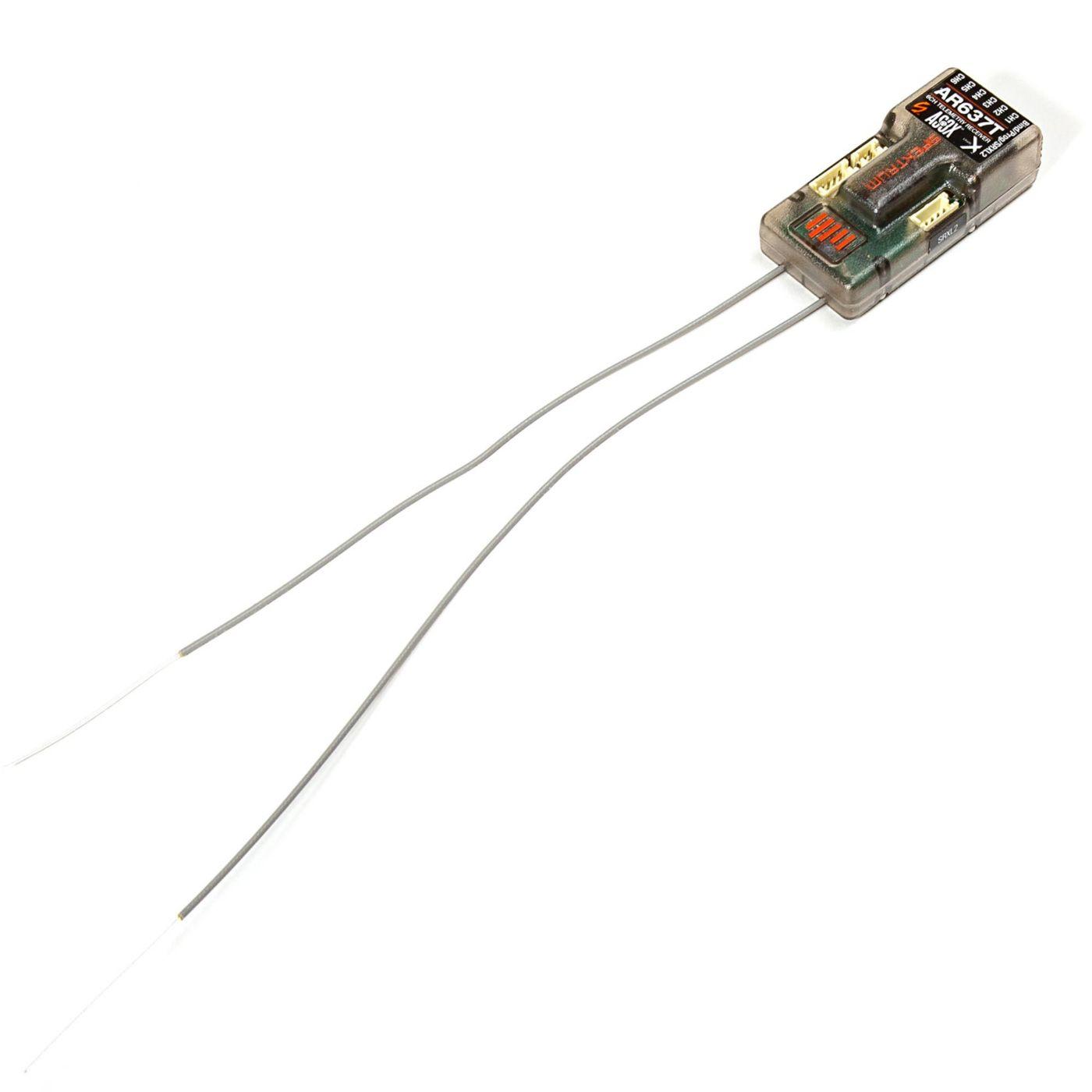 Spektrum AR637T DSMX 6-kanaals AS3X telemetrie ontvanger