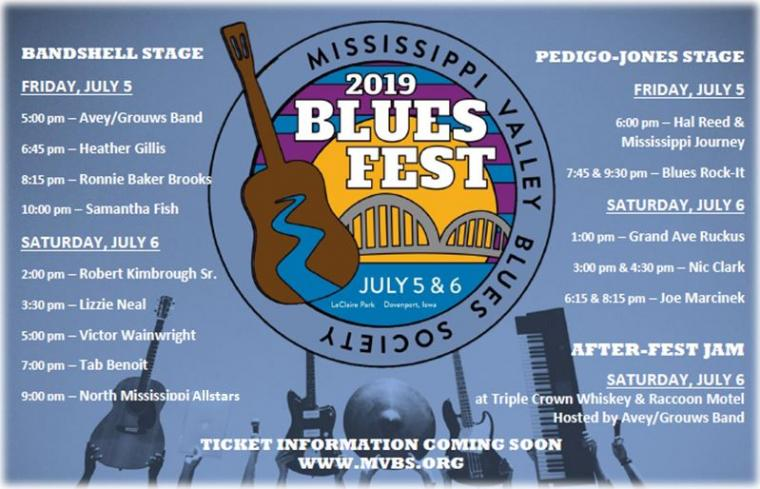 The 34th Mississippi Valley Blues Festival on the Banks of