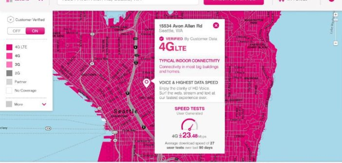 TMobile US Coverage Map Taps Crowdsourced Data - T mobile coverage map us