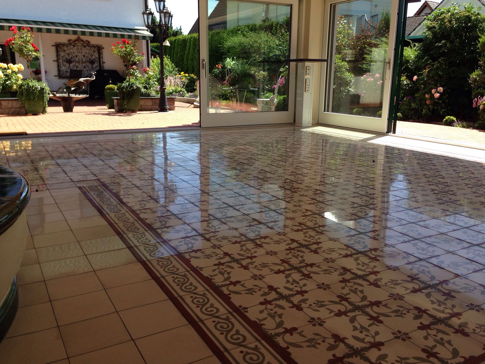 Mosaikfliesen   Rcs-Steinbodensanierung