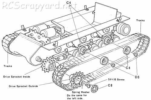 56001 • Tamiya M4 Sherman 105mm Howitzer • (Radio