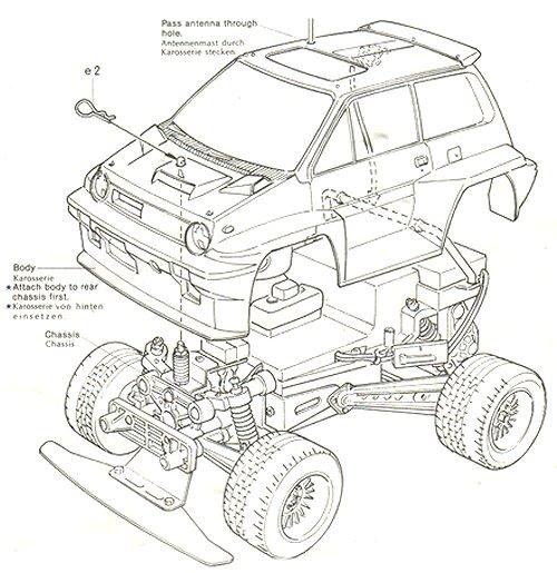 58039 • Tamiya Willy's Wheeler • (Radio Controlled Model