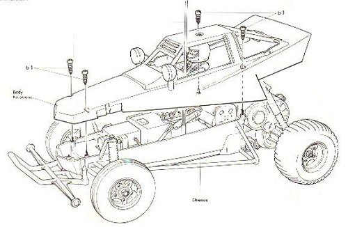 58043 • Tamiya The Grasshopper • (Radio Controlled Model