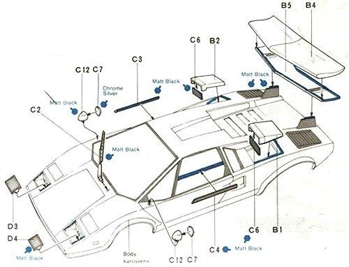 58005 • Tamiya Lamborghini Countach LP500S • (Radio