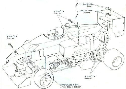 58069 • Tamiya Williams FW-11B Honda F1 • (Radio