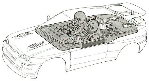 58112 • Tamiya Ford Escort RS Cosworth • TA-01