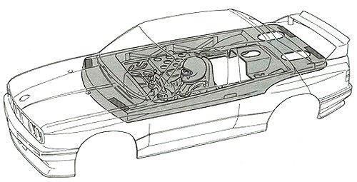 58113 • Tamiya Schnitzer BMW M3 Sport Evo • TA-01 • (Radio