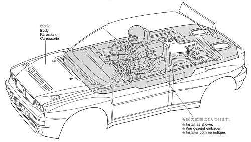 58117 • Tamiya Lancia Delta HF Integrale • TA-01 • (Radio
