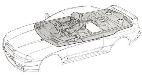 58120 • Tamiya Axia Skyline GT-R Gr.A • TA-01 • (Radio