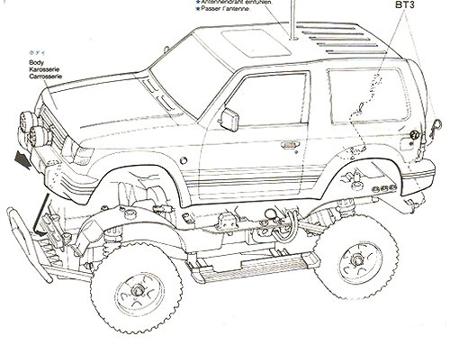 58132 • Tamiya Mitsubishi Pajero Metaltop • CC-01 • (Radio