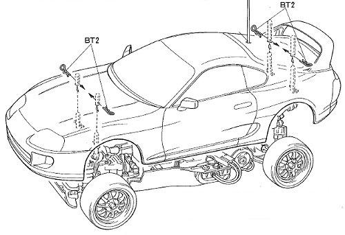 58137 • Tamiya Blitz Toyota Supra Gr.N • TA-02 • (Radio