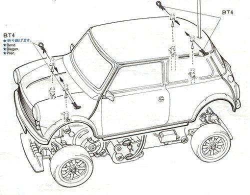 58149 • Tamiya Rover Mini Cooper • M-01 • (Funkgesteuertes