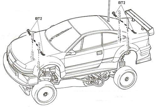 58150 • Tamiya Opel Calibra V6 DTM • TA-02 • (Radio