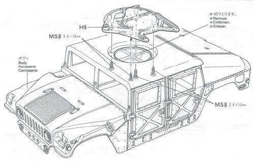 58154 • Tamiya M1025 Hummer • TA-01 • (Funkgesteuertes