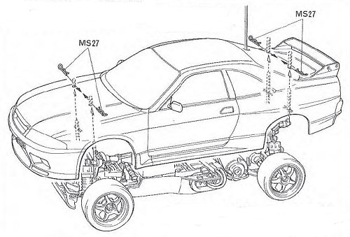 58155 • Tamiya Loctite Nissan Skyline GT-R N1 • TA-02