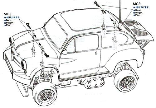 58158 • Tamiya Fiat Abarth 1000 TCR Berlina Corse • M-02