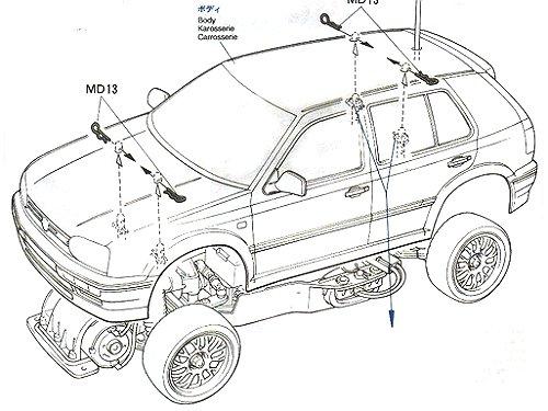 58162 • Tamiya Volkswagen Golf VR6 • FF-01 • (Radio
